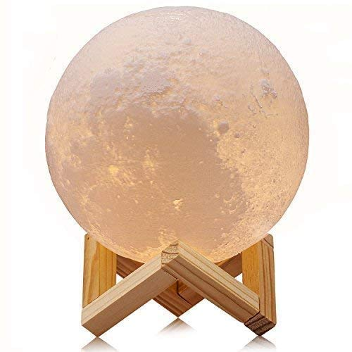 Product Image of the Moon Lamp Goodfeel 16 Colors LED 3D Print Moon Light with Stand & Remote&Touch...