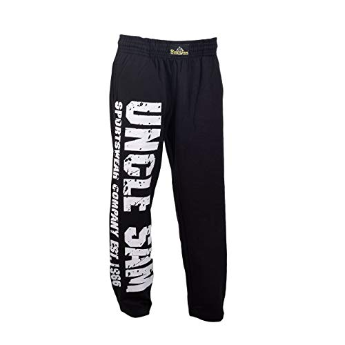 Uncle Sam Jogginghose Bodypants Trainingshose Sporthose Mit Aufdruck, Größe:M, Farbe:Black