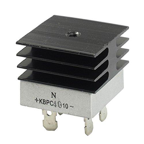 KBPC40-10 40A 1 KV monofásico puente rectificador de media onda del blanco w del disipador de calor