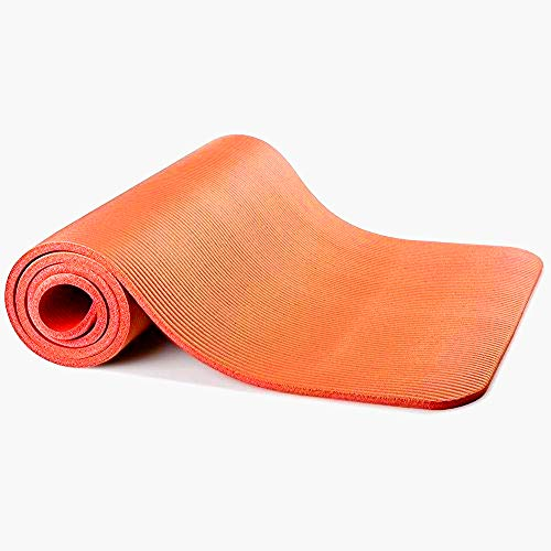 """Sunny Exercise Mat Thick High Density Exercise Yoga Mat with Carry Strap (Size 71""""*24"""") (Orange)"""