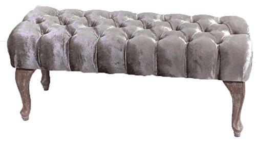 Beauty.Scouts POLSTERBANK BAROCK Design Charlotte | 100 cm, champagnerfarben Sitzbank | Prime Versand