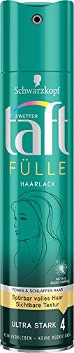 Schwarzkopf 3 Wetter Taft Haarlack, Fülle Ultra Starker Halt 4, 5er Pack (5 x 250 ml)