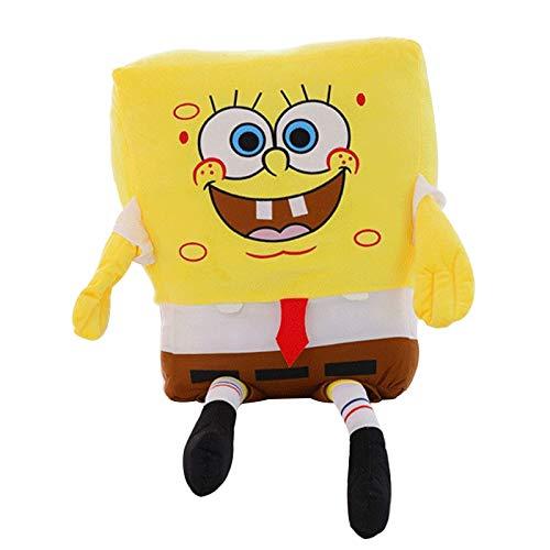 Qylfsxb Peluche 1 Pieza 50cm Bob Esponja Juguete para Bebé Bob Esponja Juguete De Felpa Suave Anime Cosplay Muñeca para Niños Juguetes Figura De Dibujos Animados Cojín