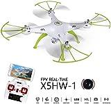 Gxscy X5HW RC Drone avec caméra HD WiFi FPV Selfie RC Quadcopter hélicoptère Comprend Une Altitude Efficace Fonction Flying Attente très Facile for Toy Cadeau for Débutants Enfants (X5SW Upgrade)