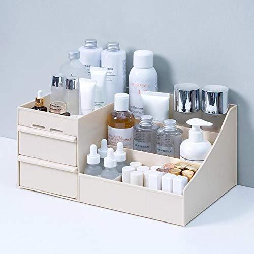 Cosmetica-organizer met grote inhoud, opbergdoos voor sieraden, nagellak, make-up, voor op het bureau, Sundries, kunststof, opbergen