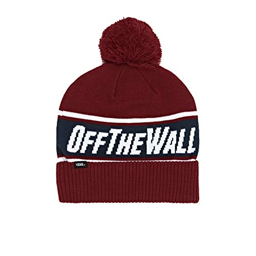 Vans Off The Wall Pom Beanie -Fall 2019-(VN0A2YR7TN31) - Biking Red/Dress Blues - One Size