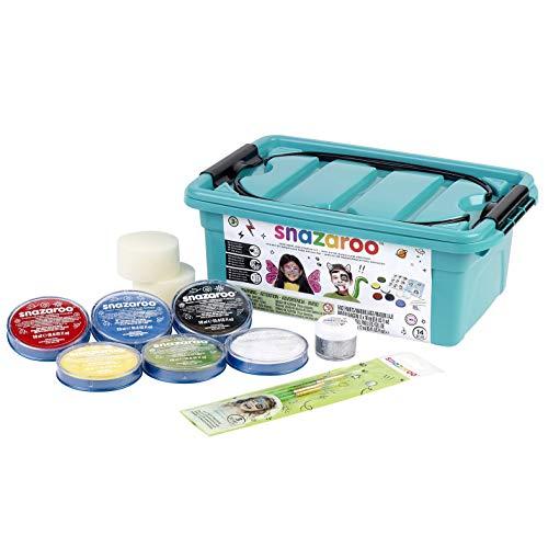 Snazaroo - Kit base di colori trucca bimbi, 14 pezzi, Modelli/Colori Assortiti, 1 Pezzo