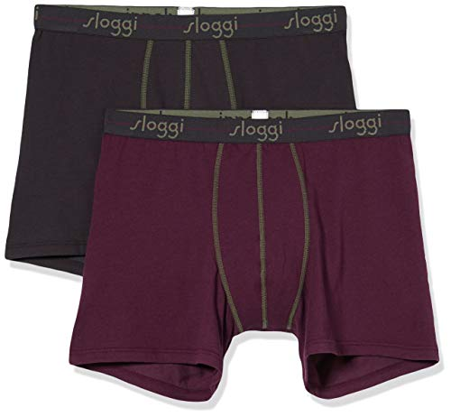 Sloggi Herren Men Start Short C2p Boxershorts, Violett (Violet-Dark Combination M), 6