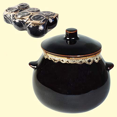 Olymp Keramiktopfset Schaum 6 St.0,6 L Auflaufform,Auflauftopf