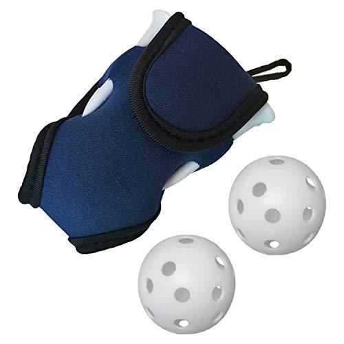 [シャンディニー] ゴルフボールケース ゴルフ ボールポーチ 小型 ティー 4本 練習ボール 2個付 ネイビー