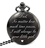 Dad Birthday Gifts from Daughter Unique, Daddy Gift Ideas for Christmas Fathers Day, Dad Pocket Watch (dad Girl Roman)