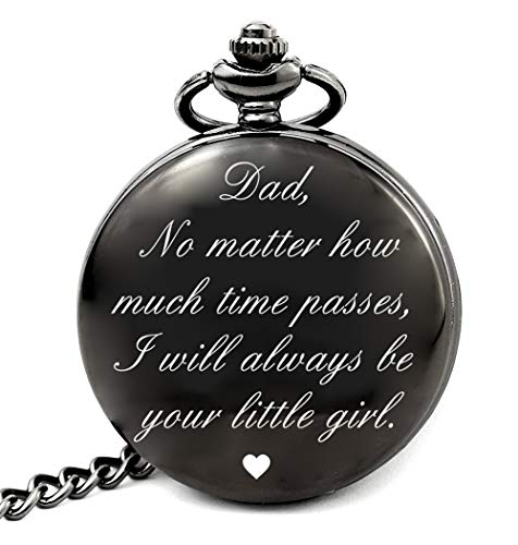 Dad Birthday Gifts from Daughter Unique, Daddy Gift Ideas for Christmas Fathers Day, Dad Pocket Watch