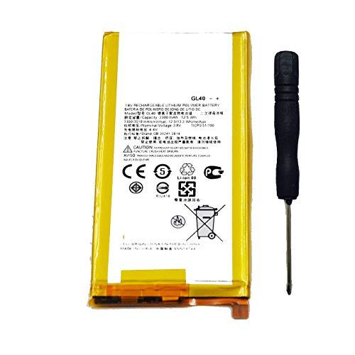 Tesurty GL40 Replacement Battery for Motorola Moto Z Play Droid XT1635 XT1635-01 XT1635-02 XT1635-03
