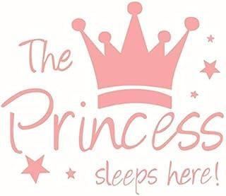 Pink Princess Crown Wall Sticker Little Girl Bedroom Wall Sticker Little Girl Bedside Wall Sticker PVC Waterproof Wall Sticker Give Kids