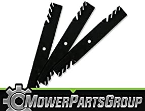 MowerPartsGroup D362 (3) Toothed Blades Fits Hustler Fastrak FasTrak SuperDuty with 54
