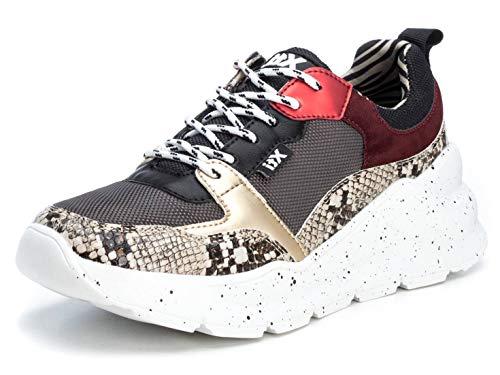 XTI 49592, Zapatillas Mujer, Taupe, 39 EU