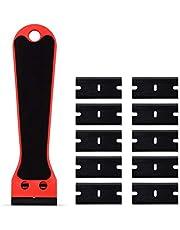 Hoogwaardig schrapergereedschap Carbon Fiber Auto Wrap Sticker Remover Razor Schraper Reinigingsgereedschap + 100 stks Window Keuken Oven Clean SqueeGee Goede prestaties en een lange levensduur