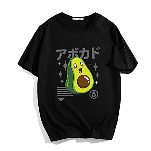 Astemdhj T-shirt men Short sleeve Summer Funny Hip Hop Tees For Unisex Avocado Teenager 'S Harajuku Cotton O Neck T Shirt Women/Men Fashion Round Collar T-Shirt Xs 906M-Mx-1202-22-4