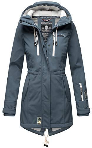 MARIKOO Damen Softshell-Jacke Outdoorjacke Zimtzicke Dusty Blue Gr. M