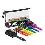 Termix Pack C·Ramic 2020. Incluye 6 Diámetros del Cepillo Térmico Redondo C·Ramic en los Colores de la Bandera Lgtb y Un Cepillo Paddle Desenredante. Dentro de un Neceser de Cuero, Pride, 7 Unidades