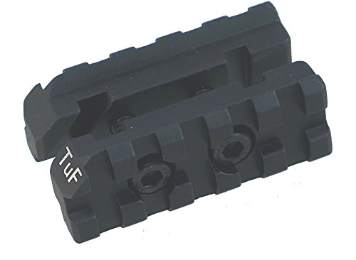 TufForce Tactical Side Mount on Standard Front Sight for Flashlight/Laser, 5 Slots, Two M5 Screws clamp, AR5F,