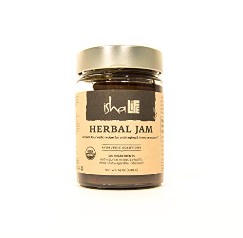 Isha Natural Fruit, Herb and Spice Jam with Anti-Aging and Antioxidant Properties, Ayurveda Recipe Boosts Immunity, Cleanses Body, and Increases Metabolism. USDA Organic Herbal Spread - 14 Ounce