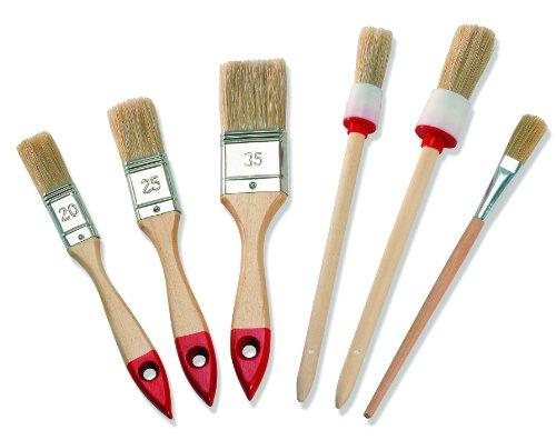 Color Expert Pinsel-Set, 6-teilig, helle Borste, 20/25 / 35 mm 82620599