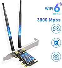 EDUP PCIe WiFi 6 Card Bluetooth 5.0 AX 3000 Mbps AX200 Dual Band 5.GHz/2.4GHz PCI-E Wireless WiFi Network Adapter Card for Desktop Windows 10 64-bit