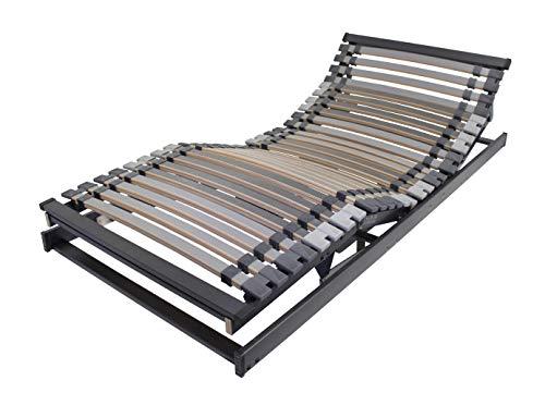 BELARO Lattenrost XXXL Exklusiv MOT 90x200 cm || Unterfederung für hohe Belastungen bis 250kg - motorische Ober- und Unterkörperverstellung