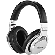 ammoon Monitor Takstar Pro 82 Professional Studio Dynamic Headset Over-Ear for Recording Monitoring Audio Headphones Appreciation Game Play With Aluminium Alloy Case (Silver)