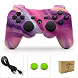 dainslef PS3 Controller Wireless Dualshock Remote/Gamepad for Sony Playstation 3 Bluetooth PS3 Sixaxis Joystick with Charging Cable (Aurora PS3 Remote/PS3 Game)…