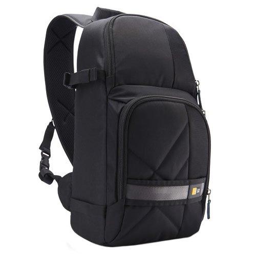 Case Logic CPL-107BK - Bolsa Bandolera de Nailon con Protector para la Lluvia para cámara réflex (Capacidad cámara, 2 Objetivos y Accesorios), Color Negro