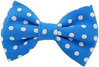 THE DOK Blue Polka Dot - Dog Cat Pet Bow Tie Bowtie Collar Accessory 4 inch
