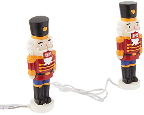 Department 56 Accessories Collections Lit Nutcracker Yard Décor Village Lights, Multicolor