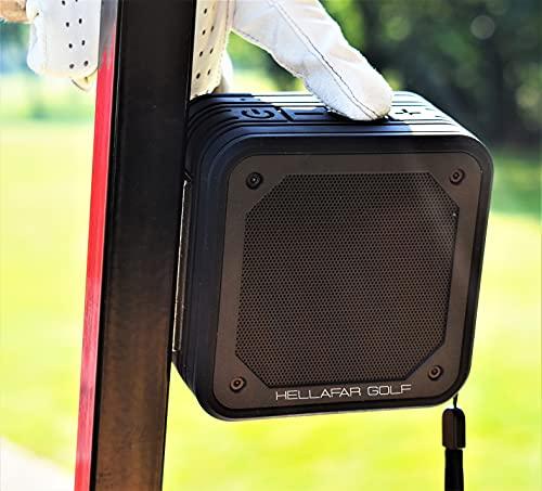 Hellafar Golf Magnetic Golf Cart Speaker - Wireless and Waterproof Golf Cart Bluetooth Speaker- Includes Divot Tool & Magnetic Ball Marker