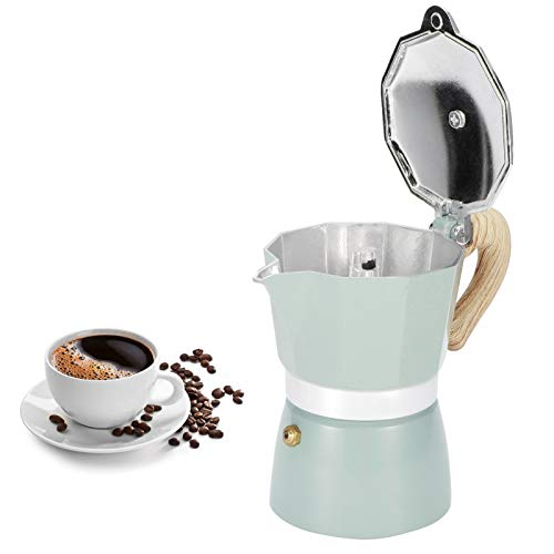 Zerodis Cafetière, cuisinière cafetière en Aluminium octogonale cafetière Bouilloire Moka Pot pour Fournitures de Cuisine à Domicile(01)