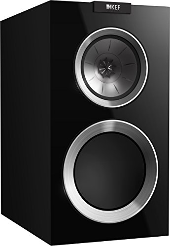 Best Buy! KEF R300 Bookshelf Loudspeaker - High Gloss Piano Black (Pair)