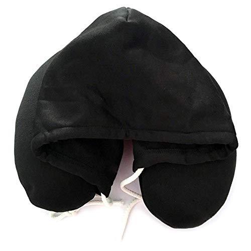 N/X Almohada para Cuello Sólido Gris Siesta Almohada para partículas de algodón Almohada en U con Capucha Suave Textil Hogar Avión Coche Almohada de Viaje