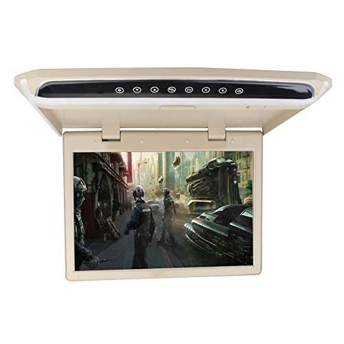 """Price comparison product image 15.6"""" Overhead Car Video Player Roof Mount Monitor with HDMI 1920 x 1080 Wide View Screen Support 1080P Fire TV Stick FM SD / USB (Without DVD Drive)"""