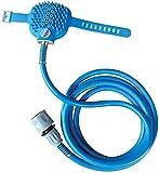 SWARIM Comfort Massager Shower Cleaning Washing Sprayers Dog Brush Pet Bathing Tool (Standard Size, Blue)