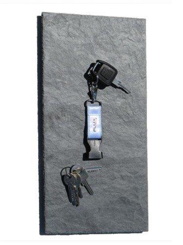 Magnetisches Schlüsselboard, Schlüsselbrett aus echtem Schiefer in 40 cm x 20 cm