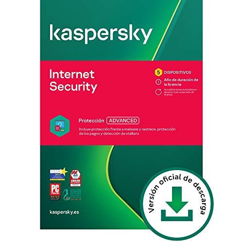 Kaspersky Internet Security 2021 | 5 Dispositivos | 1 Año | PC / Mac / Android | Código de activación vía correo electrónico
