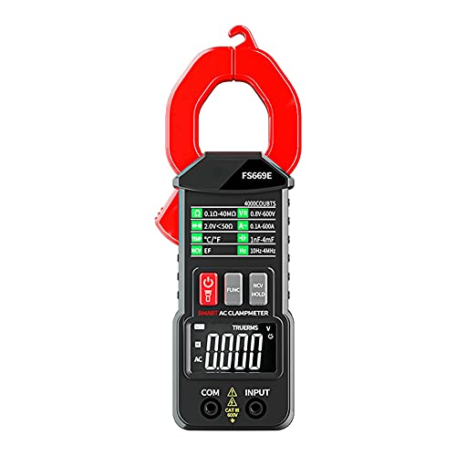 Eltänger, strömmätare DC/AC ström: 0-600A, 600 V tångmultimeter antal bilrangling, mäter spänning kapacitet genomgång (AC/DC ström)