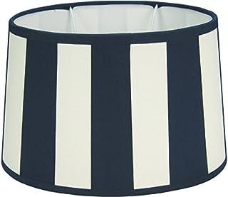 :20//15 D oben King Lampenschirm oval Streifen taupe Vintage Landhaus E27 D :14//8 H:14cm unten