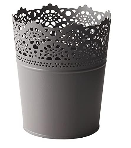 Ikea SKURAR Kerzenhalter in grau; (11cm)