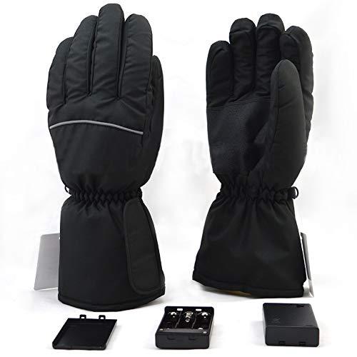 Harddo verwarmde handschoenen voor dames en heren, elektrisch verwarmde handschoenen met touchscreen op batterijen, voor skiën, fietsen, paardrijden, jagen, vissen