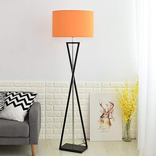 lámpara Lampada de de 0718LDD pie Tela de Simple H M Hierro Lámpara Europea Noche da de nórdica de de para mesilla Noche terra 0nvm8NwO