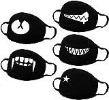 Firoya - Set di 5 cartamodello per animali, Kawaii, adatto per adulti e bambini, colore: nero