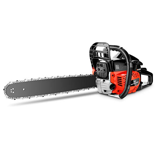 Best Buy! Tinfancy 20 Inch Gas Chainsaw 62CC 2-Stroke Gasoline Powered Chain Saw for Cutting Trees, ...