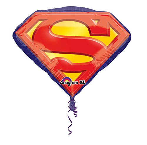 amscan 2969201 Folienballon Superman Emblem, Mehrfarbig, Amerikanische Größe